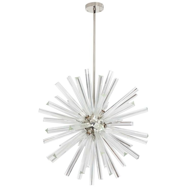 Mini Sputnik Chandeliers In 2018 Worldwide Lighting W83111C36 Starburst 24 Light Chrome Crystal (View 5 of 10)