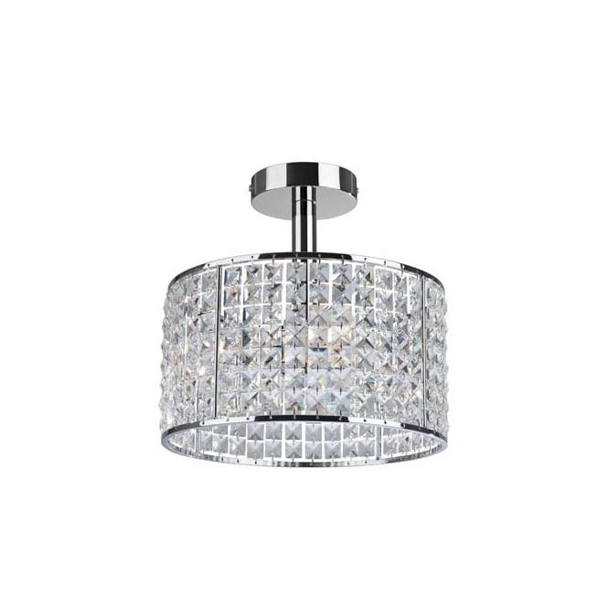 Modern Bathroom Crystal Ceiling Light, Ip44, Dimmable Inside 2018 Chandelier Bathroom Ceiling Lights (View 8 of 10)