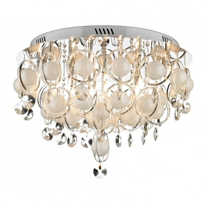Modern Chandeliers For Low Ceilings Intended For Most Popular Cloud Large Crystal Light For Low Ceilings Regarding Elegant (View 4 of 10)
