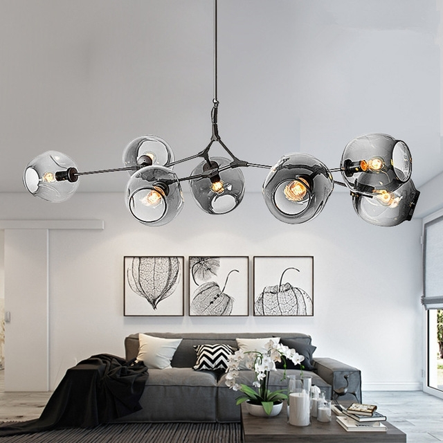 Modern Chandeliers Intended For Preferred Modern Chandeliers Lighting Branching Bubble Ball Pendant Lamp Gold (View 7 of 10)