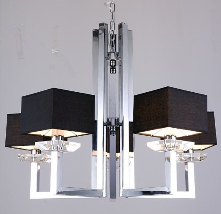 Modern Chrome Chandelier For Most Current Modern Chrome Chandelier New Imogen And Black Lamp For  (View 4 of 10)