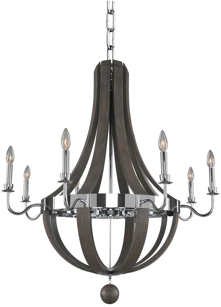 Modern Chrome Chandelier Inside Newest Kalco 300484Ch Sharlow Contemporary Chrome Chandelier Lighting – Kal (View 6 of 10)