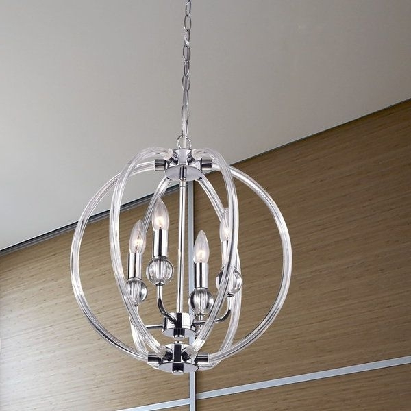 Modern Chrome Chandeliers For Latest Bring A Touch Of Elegance To Your Home With This Beautiful Orb (View 6 of 10)