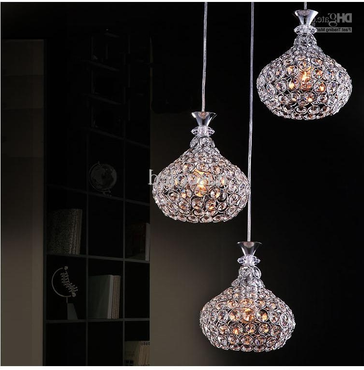 Modern Crystal Chandelier Lighting Chrome Fixture Pendant Lamp In Most Current Modern Pendant Chandelier Lighting (View 6 of 10)