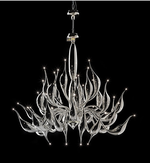 Modern Glass Chandeliers For Popular Italy Swan Chandelier Modern Murano Chandeliers Creative Art Glass (View 3 of 10)