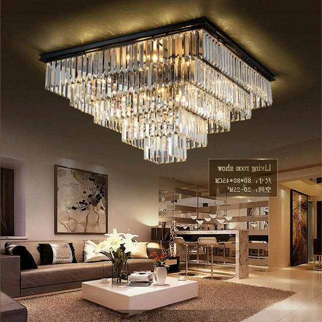 Modern Large Chandelier Pertaining To Well Liked Laimaik Crystal Led Ceilinglight Large Chandelier Luxury Crystal (View 9 of 10)