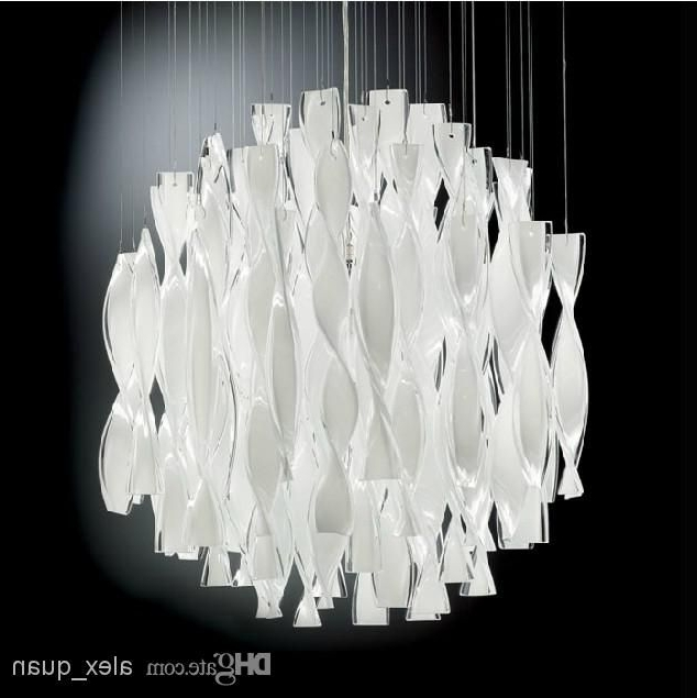 Modern Large Chandeliers With Regard To 2017 Hybrid Type Stair Large Chandelier Modern Glass Pendant Light (View 3 of 10)