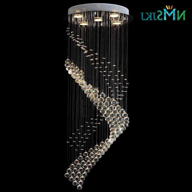 Modern Large Round Spiral Crystal Decoration Lighting Fixture For Well Known Chandelier For Restaurant (View 6 of 10)