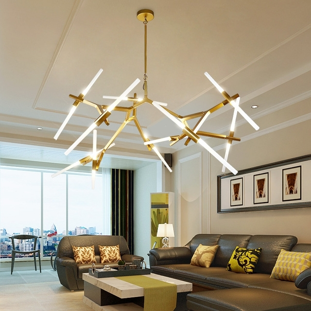 Modern Led Chandelier For Living Room Dining Room Lampadario Moderno Intended For Favorite Modern Led Chandelier (View 3 of 10)