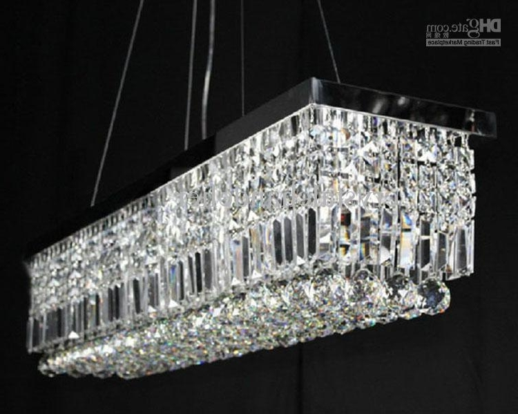 Modern Pendant Chandelier Lighting For Newest 100cm Modern Contemporary Crystal Pendant Light Ceiling Lamp Modern (View 4 of 10)
