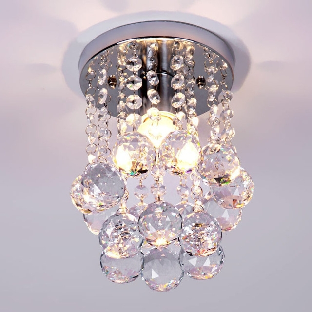 Modern Small Crystal Chandelier Lustre Light With Top K9 Crystal And For Trendy Modern Small Chandeliers (View 9 of 10)