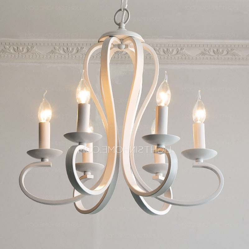 Modern White Chandelier Intended For Popular Simple 6 Light Modern Chandeliers Cheap Painting Gray White (View 4 of 10)
