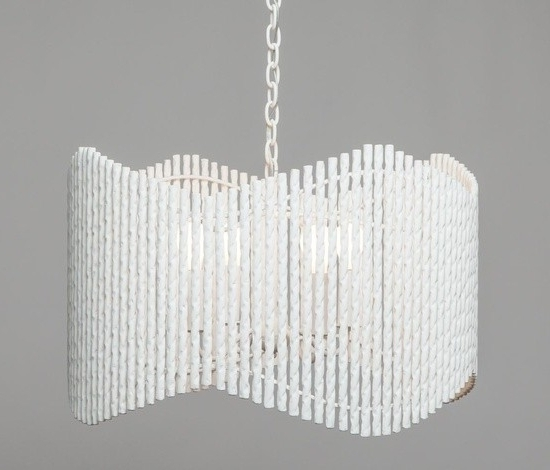 Modern White Chandelier Regarding Well Liked Modern White Plaster Wave Chandelier – Mecox Gardens (View 6 of 10)