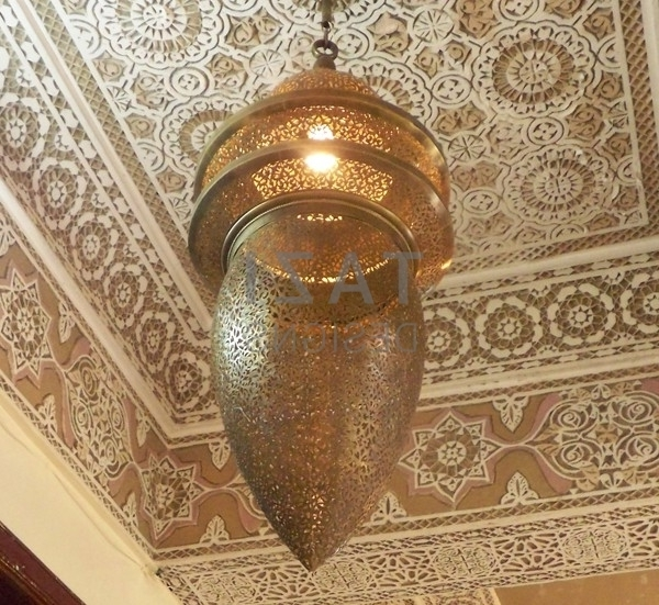 Moroccan Large Brass Chandelier – Hassan – Tazi Designs In Most Recent Large Brass Chandelier (View 10 of 10)