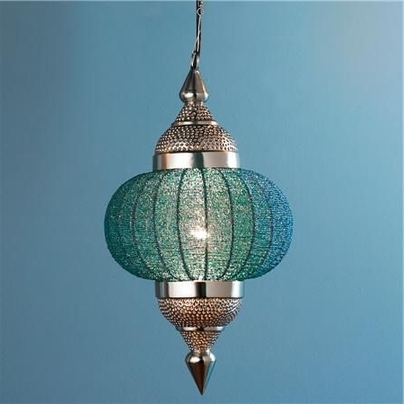 Moroccan, Lights Pertaining To Turquoise Lantern Chandeliers (View 8 of 10)