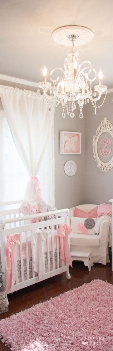 Most Current Ba Nursery Decor Start Overhaul Girl Chandeliers For Stylish With Regard To Chandeliers For Baby Girl Room (View 7 of 10)