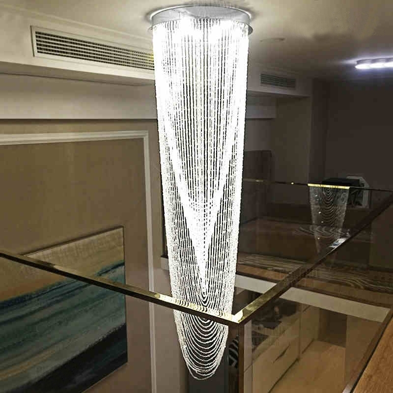 Most Current Buy Waterfall Crystal Chandelier And Get Free Shipping On Aliexpress Throughout Waterfall Crystal Chandelier (View 5 of 10)