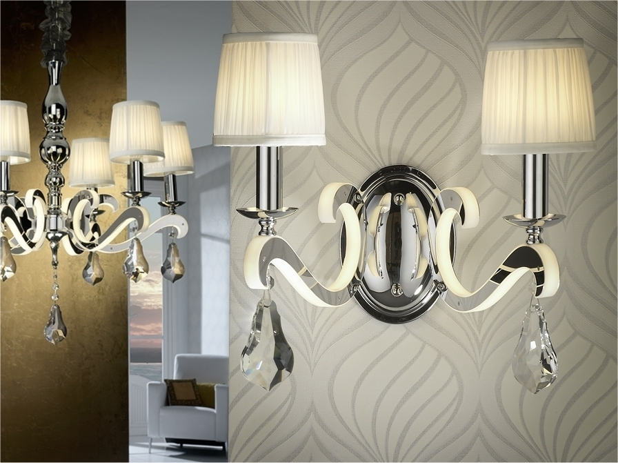 Most Current Ceiling And Matching Wall Lights Designs In Chandelier Decor For Bathroom Chandelier Wall Lights (View 7 of 10)