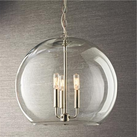 Most Current Clear Glass Chandeliers Pertaining To Clear Glass Sphere Chandelier (View 9 of 10)