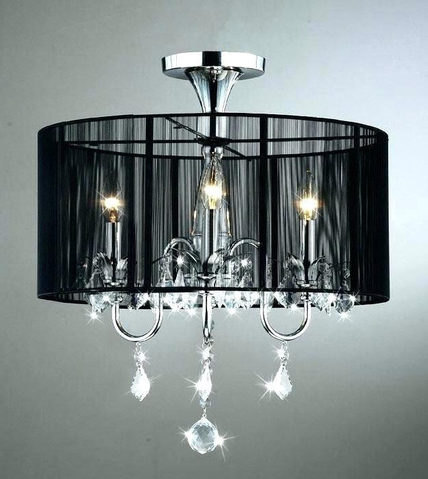 Most Current Crystal Lamp Shades For Chandeliers Multiple Chandelier Fabric Shade Within Chandeliers With Black Shades (View 8 of 10)