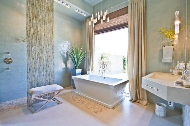 Most Current Elegant Chandelier – Rain Drops Pendants – Modern – Bathroom – Miami With Modern Bathroom Chandelier Lighting (View 2 of 10)