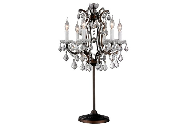 Most Current Faux Crystal Chandelier Table Lamps For Modern Contemporary Crystal Silver Table Lamp Lamps For Regarding (View 7 of 10)