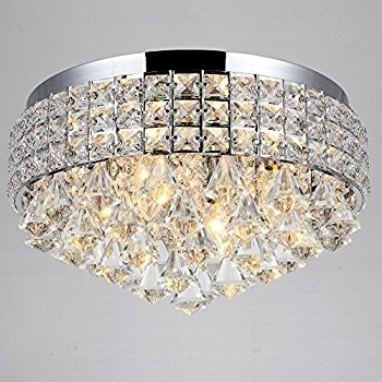 Most Current Flush Chandelier Within Antonia Ornate Crystal Flush Mount Chandelier In Chrome – – Amazon (View 6 of 10)
