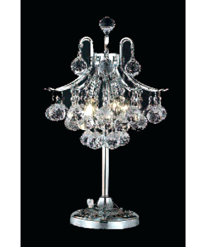 Most Current Mini Chandelier Table Lamps Intended For Good Mini Chandelier Lamp Shades And Chandelier Table Lamp Com Black (View 8 of 10)