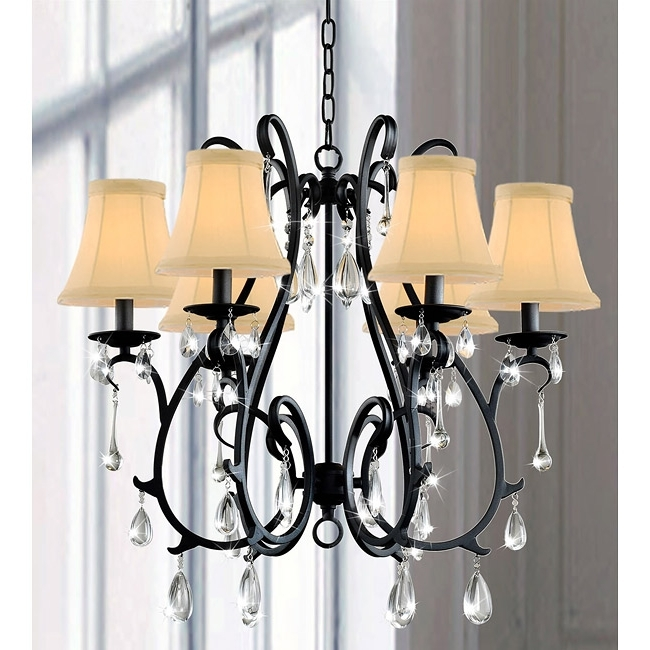 Most Current This Iron And Crystal Chandelier Will Wow A Room With Its For Cream Crystal Chandelier (View 6 of 10)