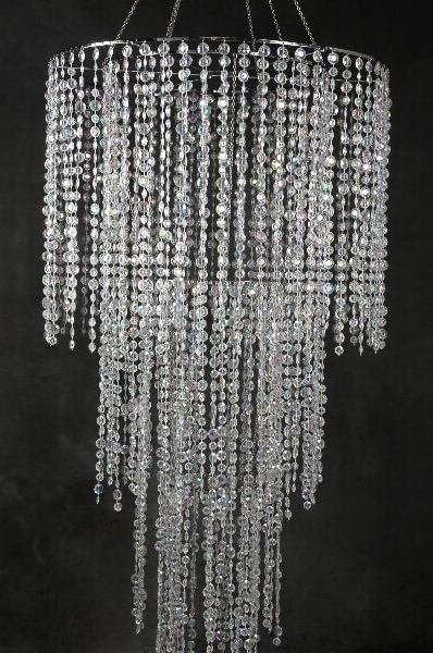 "Most Current Tier Crystal Chandelier 77"" Regarding Crystal Chandeliers (View 7 of 10)"