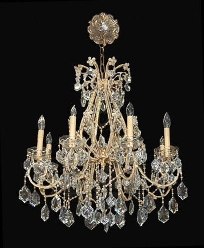 Most Popular Antique French Beaded Crystal Chandelier – Latique Antiques For Antique French Chandeliers (View 7 of 10)