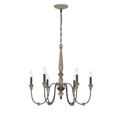 Most Popular Candle Light Chandelier Intended For Candle Style – Chandeliers – Lighting – The Home Depot (View 8 of 10)
