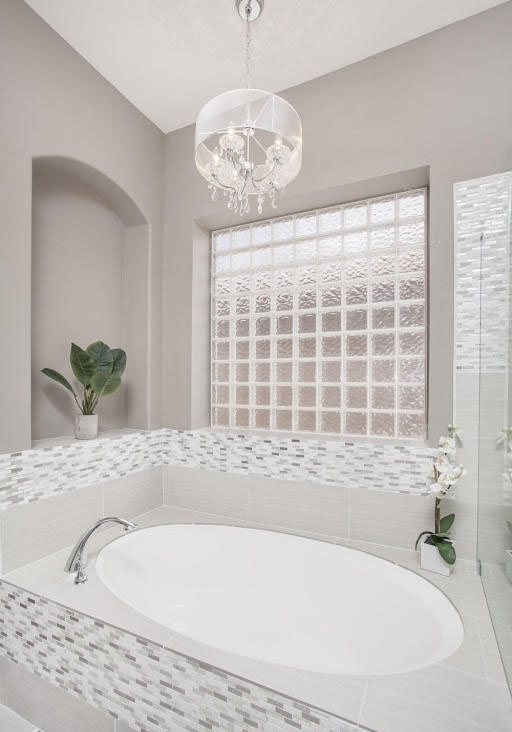 Most Popular Chandelier In The Bathroom Within 27 Gorgeous Bathroom Chandelier Ideas – Designing Idea (View 8 of 10)