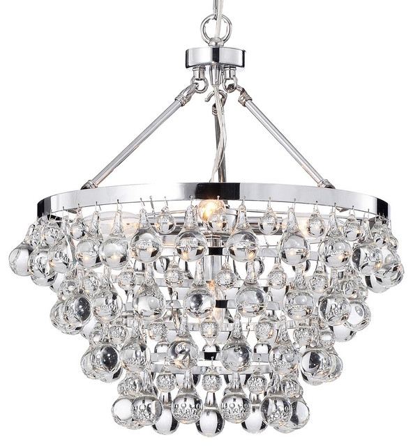Most Popular Crystal And Chrome Chandeliers Within Crystal And Chrome Chandeliers With Regard To # (View 6 of 10)