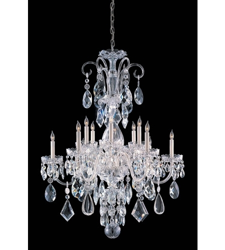 Most Popular Crystorama 1045 Ch Cl Mwp Traditional Crystal 12 Light 32 Inch Within Crystal Chrome Chandelier (View 9 of 10)