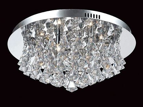 Most Popular Flush Fitting Chandelier Inside Flush Fitting Crystal Chandeliers London – Angelos Lighting Turnpike (View 4 of 10)