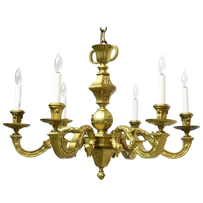 Most Popular French Belle Époque Gilt Bronze Chandelier With Six Lights, Circa Regarding French Bronze Chandelier (View 10 of 10)