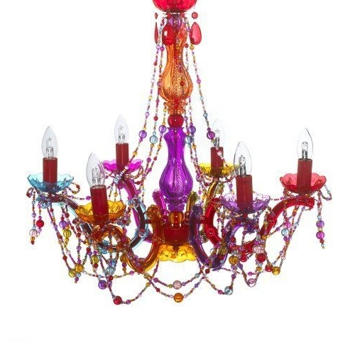 Most Popular Gypsy Chandelier Pendant Ceiling Light – Multi Coloured Large Regarding Multi Colored Gypsy Chandeliers (View 3 of 10)