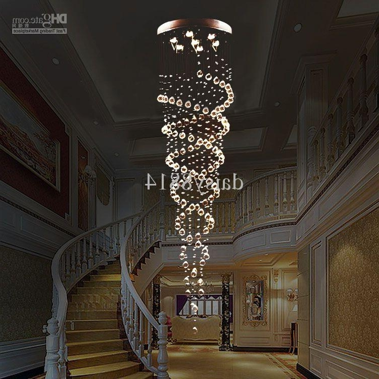Most Popular Holiday Sales Suprise Price Double Crystal Spiral Design Dia200 Pertaining To Long Modern Chandelier (View 3 of 10)