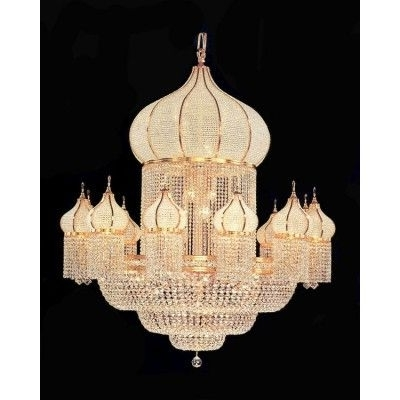 Most Popular Large Crystal Chanderliers Are Used In Hotel Lobby, Banquet Hall In Big Crystal Chandelier (View 8 of 10)