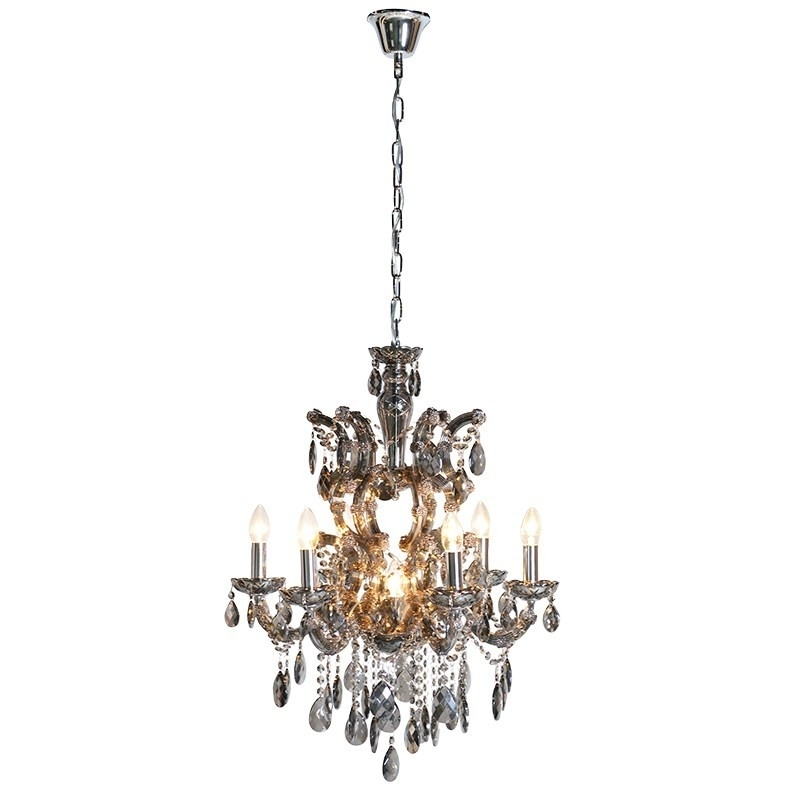 Most Popular Large Smoked Glass Chandelier (View 7 of 10)