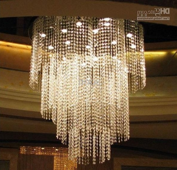 Most Popular Modern Fashion Luxuriant K9 Crystal Led Chandelier Study Room Pertaining To Hotel Chandelier (View 6 of 10)