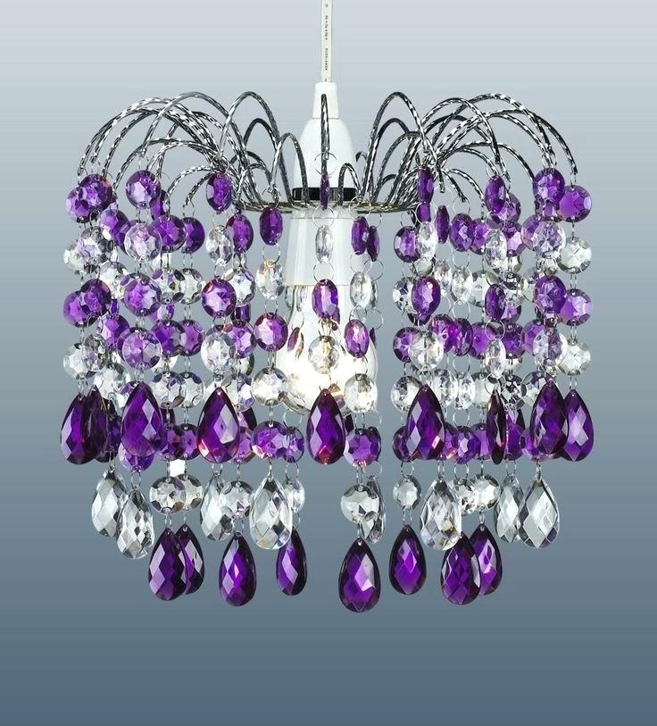 Most Popular Purple Crystal Chandelier Lighting Lowes Chandeliers Crystal In Purple Crystal Chandelier Lights (View 8 of 10)