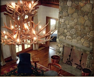 Most Popular Real Antler Chandeliers Highest Quality Throughout Antler Chandeliers And Lighting (View 6 of 10)