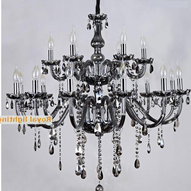 Most Popular Salon Bar Black Glass Chandelier Restaurant Professional Lighting 12 With Black Glass Chandelier (View 5 of 10)