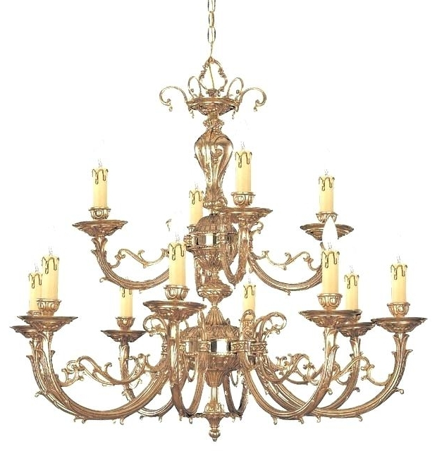 Most Popular Traditional Brass Chandeliers In Solid Brass Chandeliers Also Traditional Brass Chandelier Light (View 7 of 10)