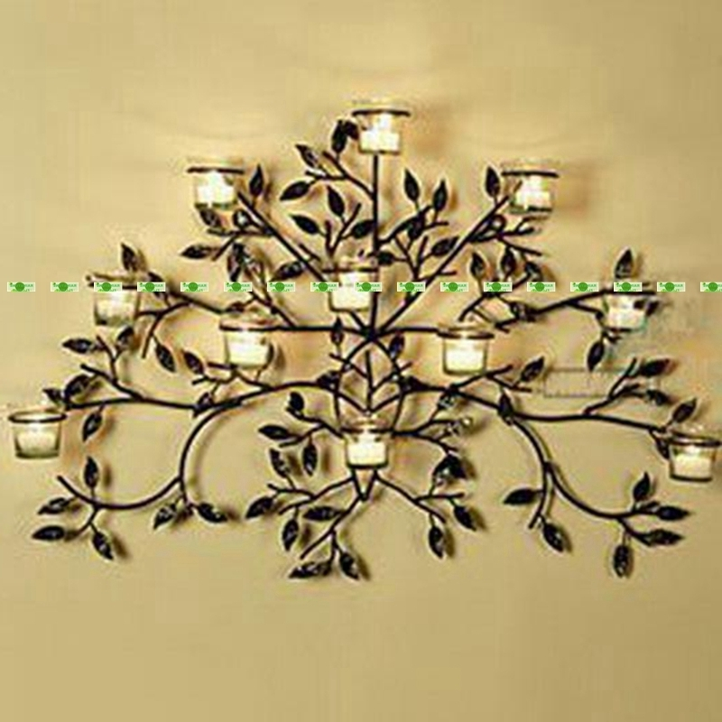 Most Recent 75Cm Metal Wedding Home Office Furniture Decor Wall Mount Pocket Regarding Wall Mounted Candle Chandeliers (View 8 of 10)