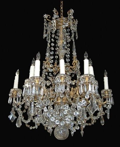 Most Recent Antique Fine French Crystal Chandelier – Latique Antiques Inside French Antique Chandeliers (View 5 of 10)