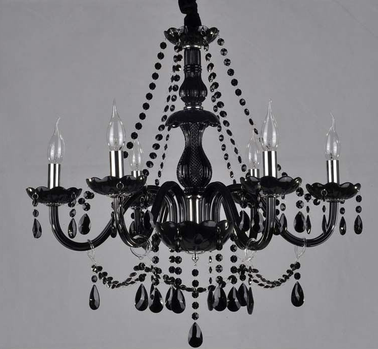 Explore gallery of modern black chandelier showing 9 of 10 photos most recent black glass crystal chandelier buy black glass crystal chandelier within modern black chandelier aloadofball Image collections
