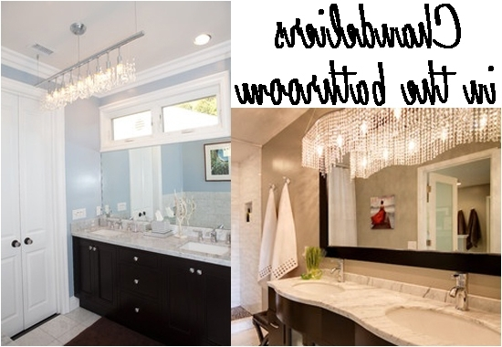 Most Recent Chandelier Bathroom Lighting Fixtures For Good Bathroom Crystal Light Fixtures Impressive Small Chandelier (View 2 of 10)